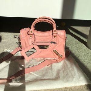 Balenciaga city mini handbag rose pink